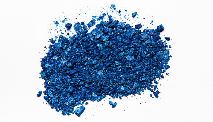 Pile of blue paint dust